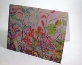 Watercolor Flowers Blank Card