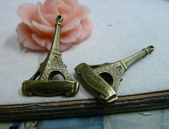 10pcs 5x18x32mm The Eiffel Tower  Antique Bronze Retro Pendant Charm For Jewelry Necklace Charms Pendants C2083