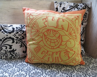 Modern Pillow Cover Throw Pillow Orange Pillow Danish Modern Pillow Orange Mid Century Modern Fun and Games Retro Design Decoration Pillow