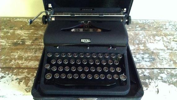 Vintage Royal Arrow Portable Typewriter Manual Typewriter
