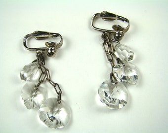 Antique Crystal Dangle Earring
