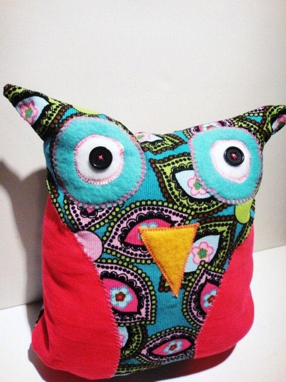 Woodland Forest Owl Pink and Aqua