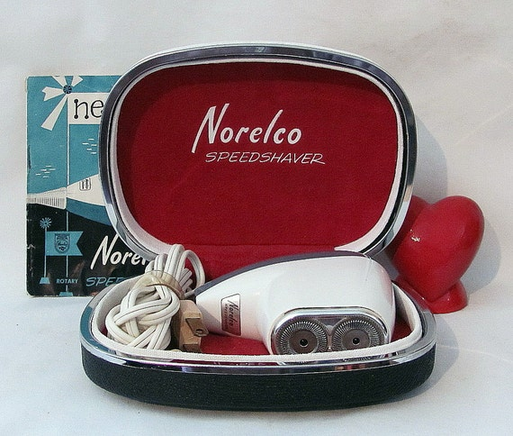 Vintage Norelco Speedshaver Mens Electric Shaver in Original Box - With Instructions - Man Cave