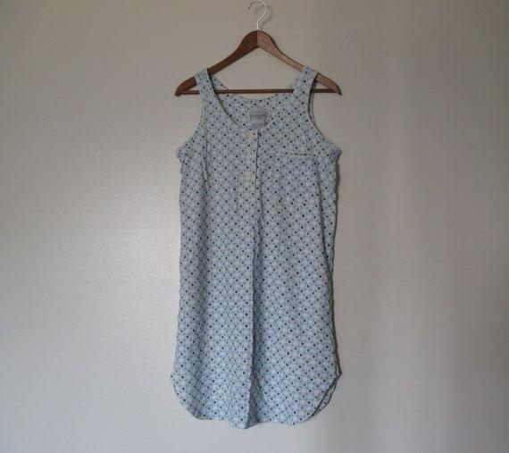 light baby blue gingham check mini dress leopard hearts spaghetti strap tank top dress nightgown cotton XS S M