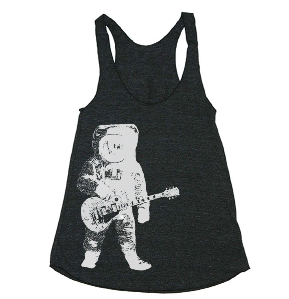 Womens astronaut guitar outer space tri blend by lastearth for Outer space guitar
