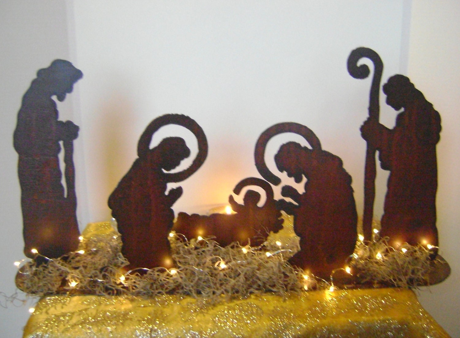 Nativity set manger set baby jesus mary joseph and for Baby jesus lawn decoration