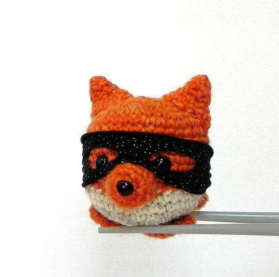 Amigurumi Zorro : Zorro Fox MochiQtie Amigururmi Mochi size mini crochet