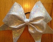 silver cheer bow