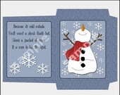 Winter Cocoa Christmas Printable Cocoa Envelope, Printable Cocoa Packet, Printable PDF & JPEG Formats, DIY, Print Yourself