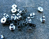 10 pairs Titanium Earring Backs 4mm