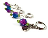 Knitting Stitch Markers - Set of 5 - Colorful Knitting Supplies