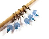 Knitting Stitch Markers - Set of 5 - Bluebells