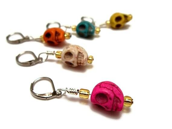 Crochet Stitch Markers - Set of 5 - Sugar Skulls