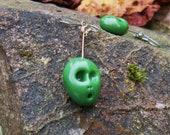 Halloween Jewelry Zombie Skull Earrings