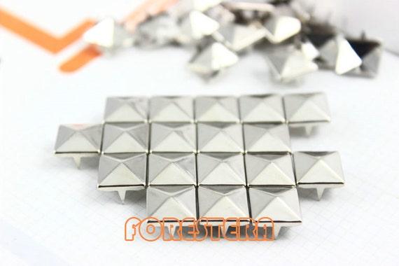 10mm Silver Pyramid Stud Punk Rock Leathercraft Stud (SP10)