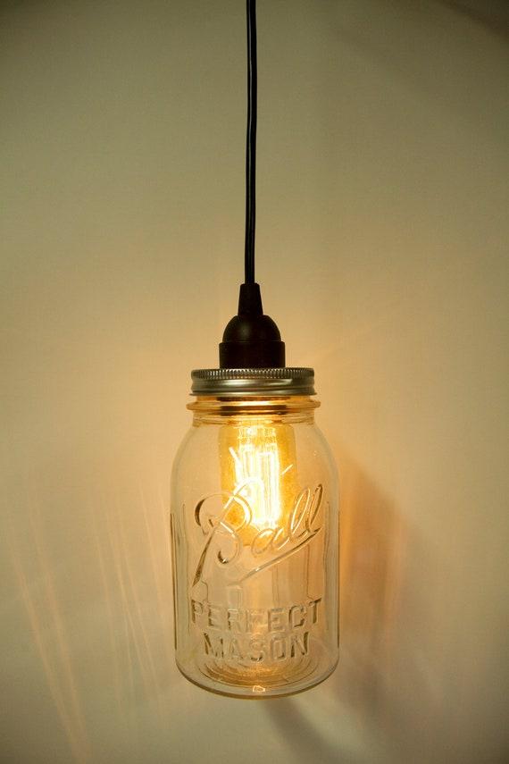Pendant Light Kit Screwfix : Items similar to mason jar direct wire pendant light kit