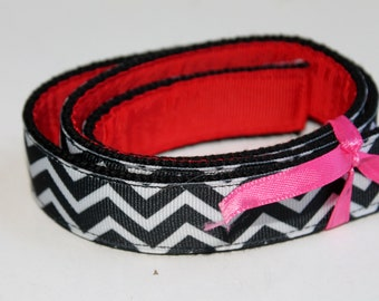 Ladies Ribbon Belt Reversible Belt Black and Red Belts Womens Ribbon Belt Teen Belt Plus Size Belt Petite Sizes Belt Chevron D ring Belt