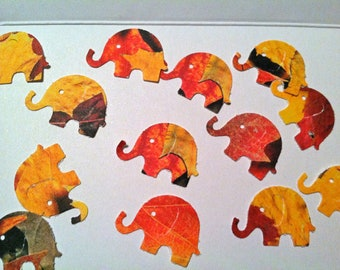 50  Fall Colors MODERN ELEPHANT DECOR  Baby Shower Confetti, Birthday party ,scrapbooking, cards 50 cs
