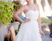 SALE - Ready to Ship - Short Wedding Dress, Ruffles wedding dress, layers gown, organza, wedding dress, knee length dress, Reception Dress