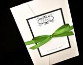 Pocketfold Wedding Invitation - Wedding Invitations - Custom Pocket Wedding Invitations