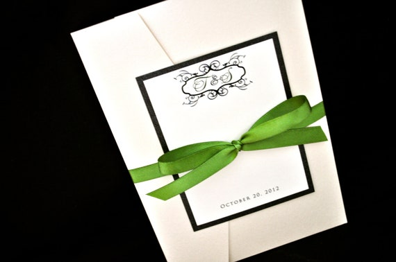 Pocketfold Wedding Invitation - Wedding Invitations - Custom Pocket Wedding Invitations