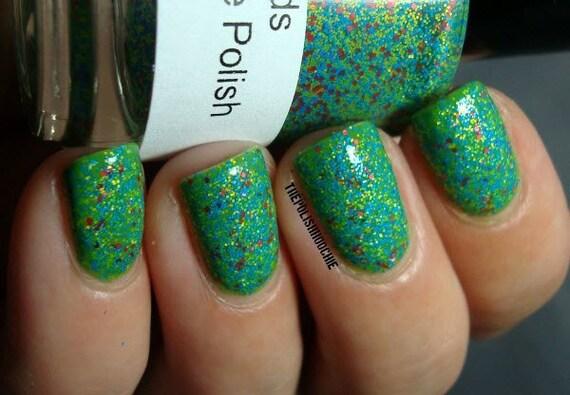 Vegas Sands: Nail Polish Custom blended Glitter Lacquer (matte)