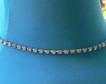 rhinestones  bridal necklace