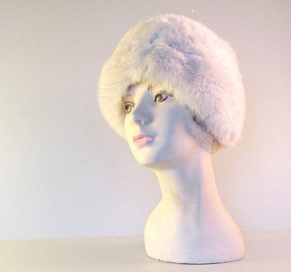 Vintage Faux Fur Ladies Winter Hat Eco fFiendly