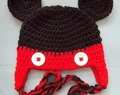 Baby Boy Crochet Mickey Mouse Beanie Hat SIZE Newborn-Adult