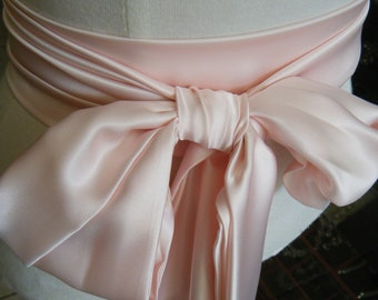 Variety of shades: Sash satin charmeuse various way to tie