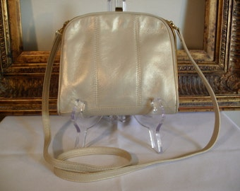 Vintage Ro-El Soft Gold Leather Shoulder Bag