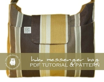 Hobo Messenger Bag - PDF Tutorial & Pattern