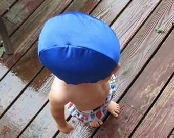 Lycra SWiM CaP - PACIFIC BLUE - Sizes - Baby , Child , Adult , XL - Made from Spandex / Swimsuit Swimming Fabric -by Froggie's Swim Caps