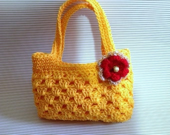 Girl's Crochet Purse PDF Pattern, Tote Bag Crochet Pattern, PDF Patterns