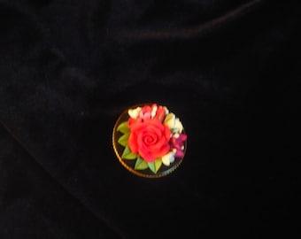 Handmade rose brooch