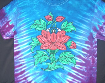 SALE - Eyes of the World tie-dye tee shirt - Grateful Dead, Jerry Garcia, Dead Company CO, Phish, hippie, festival, lotus