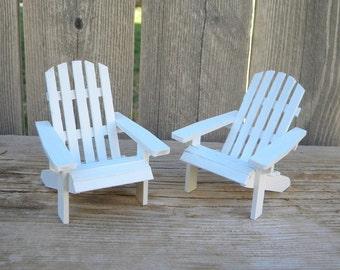 Set Of 2 Authentic Pattern Adirondack Chairs Dollhouse