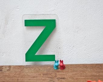 Green Marquee Sign - Letter Z - Plastic Letter Z Sign Vintage Marquee Letter Vintage Sign Large Letter Z Alphabet