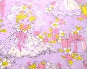 Vintage Wrapping Paper - Bridal Shower Gift - Lavender & Pink - NOS - NehiandZotz
