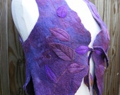 Winter Sale Purple Leafy Magic Faerie Elf Vest Waistcoat