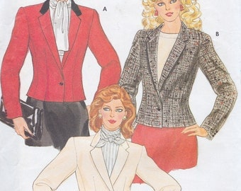 Butterick 6071 Misses' and Miss Petite Lined Jacket Pattern, UNCUT, Size 12, Semi-Fitted Jacket