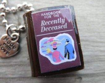 Beetlejuice The Handbook For The Recently Deceased Polymer Clay Pendant Necklace