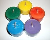 Sampler You Pick The Scents Try Me Set of 5 Pure Soy Tea Lights Multi-Pack