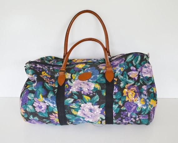 Vintage Floral Print Tote Bag 1980u0026#39;s Gitano Bag By JudysJunktion