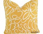 """ON SALE - DISCONTINUED Yellow Pillow Cover -18"""" X 18""""  With A Self Welt -White Back"""