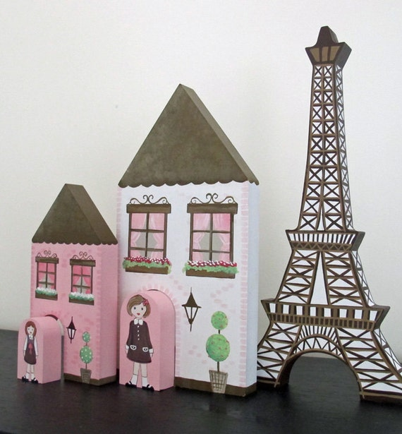 A Pink French Village - Pink,White and Brown theme