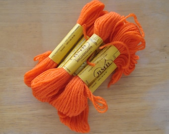 BMB Norwegian Tapestry Wool 6 Skeins Neon Orange Color 211.