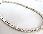 Mexican Silver 17in Heavy Link Necklace