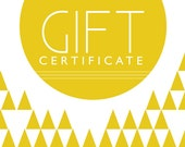 Jewelry Gift Certificate 100 Dollars. Gift Card Chunky Beaded Necklaces at VeniciaCreations.