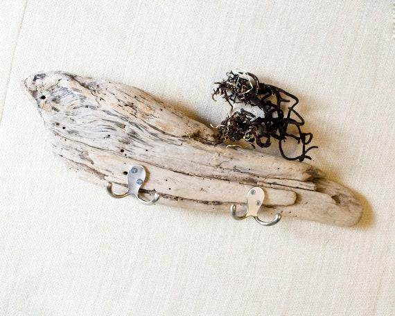 Driftwood Coat Hooks - Towel Hooks - Key Hooks - Wall Rack - with Picture Ledge